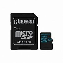 Карта памяти MicroSD 32GB Class 10 U3 Kingston SDCG2/32GB