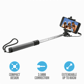 Монопод Trust Foldable Selfie Stick Bluetooth черный
